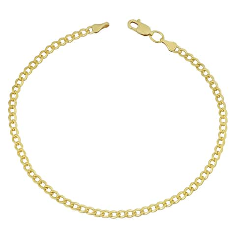 Fremada 14k Yellow Gold Filled 3.2mm High Polish Miami Cuban Link 8.5-inch Bracelet