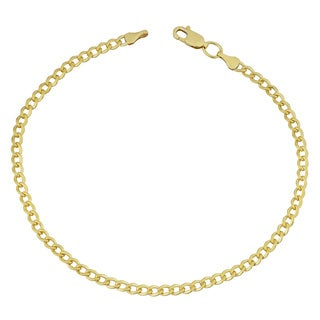 Fremada 14k Yellow Gold Filled 3.2mm High Polish Cuban Link Bracelet (8.5 inches)