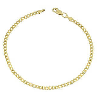Fremada Yellow Gold Filled 3.2mm High Polish Miami Cuban Link 8.5-inch Bracelet