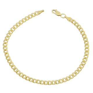 Fremada 14k Yellow Gold Filled 4.2mm High Polish Miami Cuban Curb Link 8.5-inch Chain Bracelet