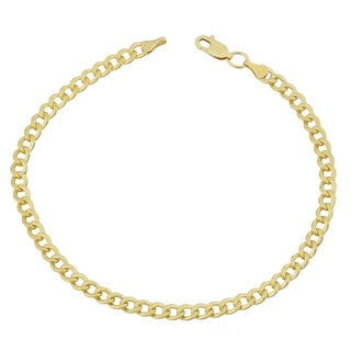 Fremada Yellow Gold Filled 4.2mm High Polish Miami Cuban Curb Link 8.5-inch Chain Bracelet