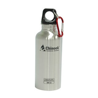 Chinook Cascade Wide Mouth Stainless Steel Bottle 16-ounce Natural