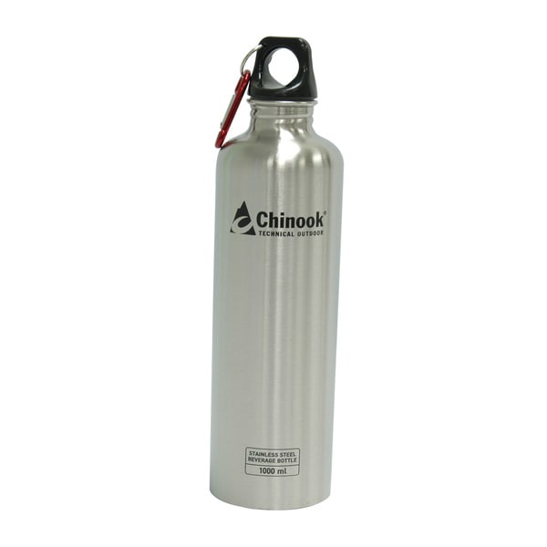 Chinook Cascade Wide Mouth Stainless Steel Bottle 32-ounce Natural