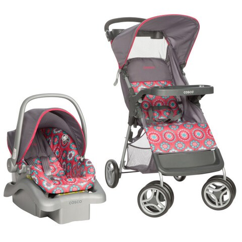 Cosco Lift and Stroll Travel System in Posey Pop