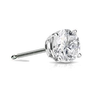 Auriya 14k Gold 1/2ct TDW Round SINGLE STUD (1) Diamond Earring
