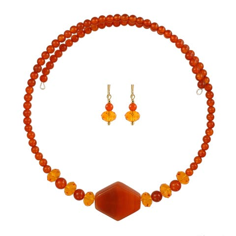 Firelight Choker Necklace and Earring Set