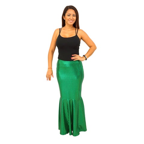 Women's Ariel Mermaid Scales Long Skirt