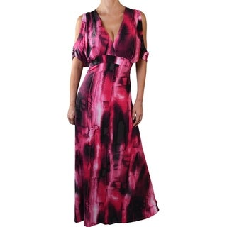 Funfash Plus Size Pink Black Women's Long Maxi Dress