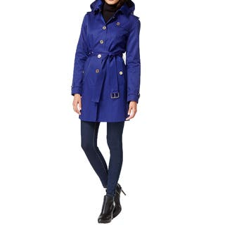 Michael Michael Kors Sapphire Blue Trench Coat|https://ak1.ostkcdn.com/images/products/11394199/P18360946.jpg?impolicy=medium