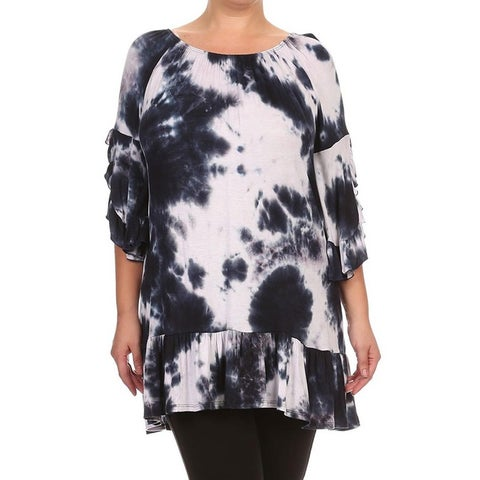 MOA Collection Plus Size Women's Tie Dye Top