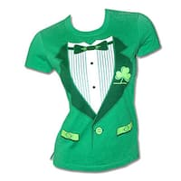 Irish Tux St. Patrick's Day Women's Graphic Tee Shirt