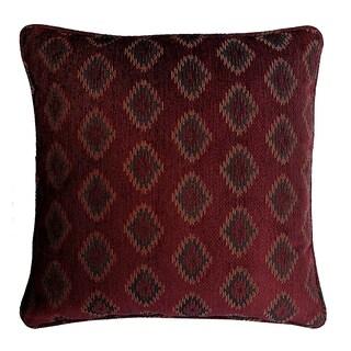 Diamond Jacquard Decorative 20-inch Throw Pillow