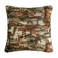 Lighthouse Tapestry Decorative 20-inch Throw Pillow