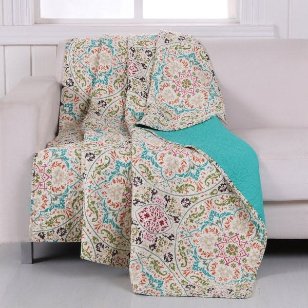 Greenland Home Fashions  Morocco Gem Cotton Quilted Throw