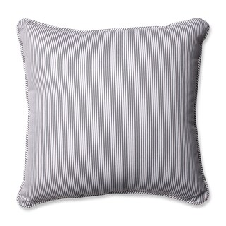 Pillow Perfect Oxford Charcoal 16.5-inch Throw Pillow