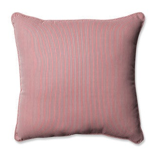 Pillow Perfect Oxford Red 18-inch Throw Pillow