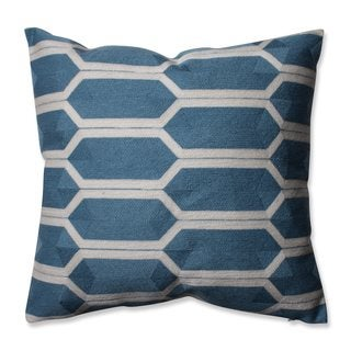 Pillow Perfect Graphic Detail Cerulean 16.5-inch Throw Pillow