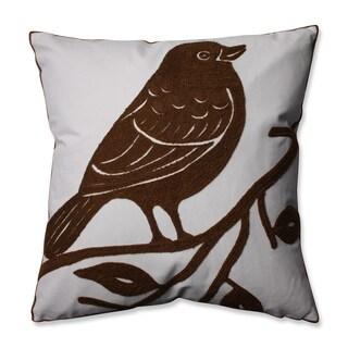 Pillow Perfect Bluebird Brown 16.5-inch Throw Pillow