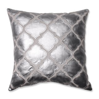 Pillow Perfect Flash Silver 16.5-inch Throw Pillow