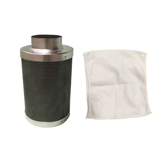 4x12 -inch Inline Fan Carbon Filter and Odor Control, Part # GLFILT4M