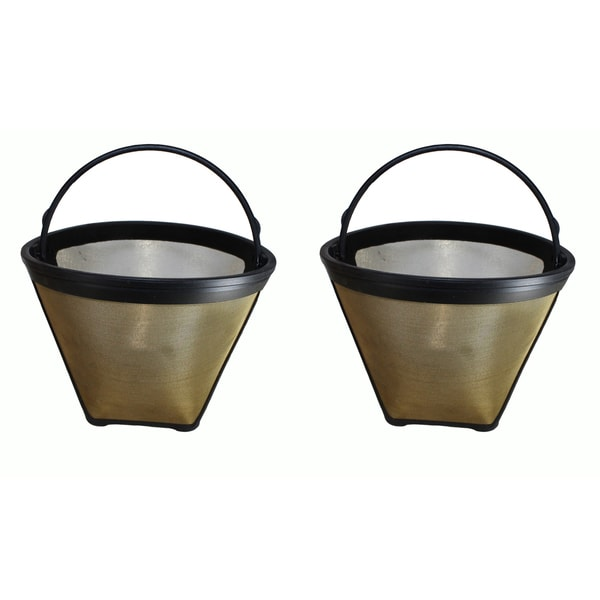 2 Cuisinart #4 Cone Gold Tone Washable Coffee Filters, Part # GTF - Free Shipping On Orders Over ...