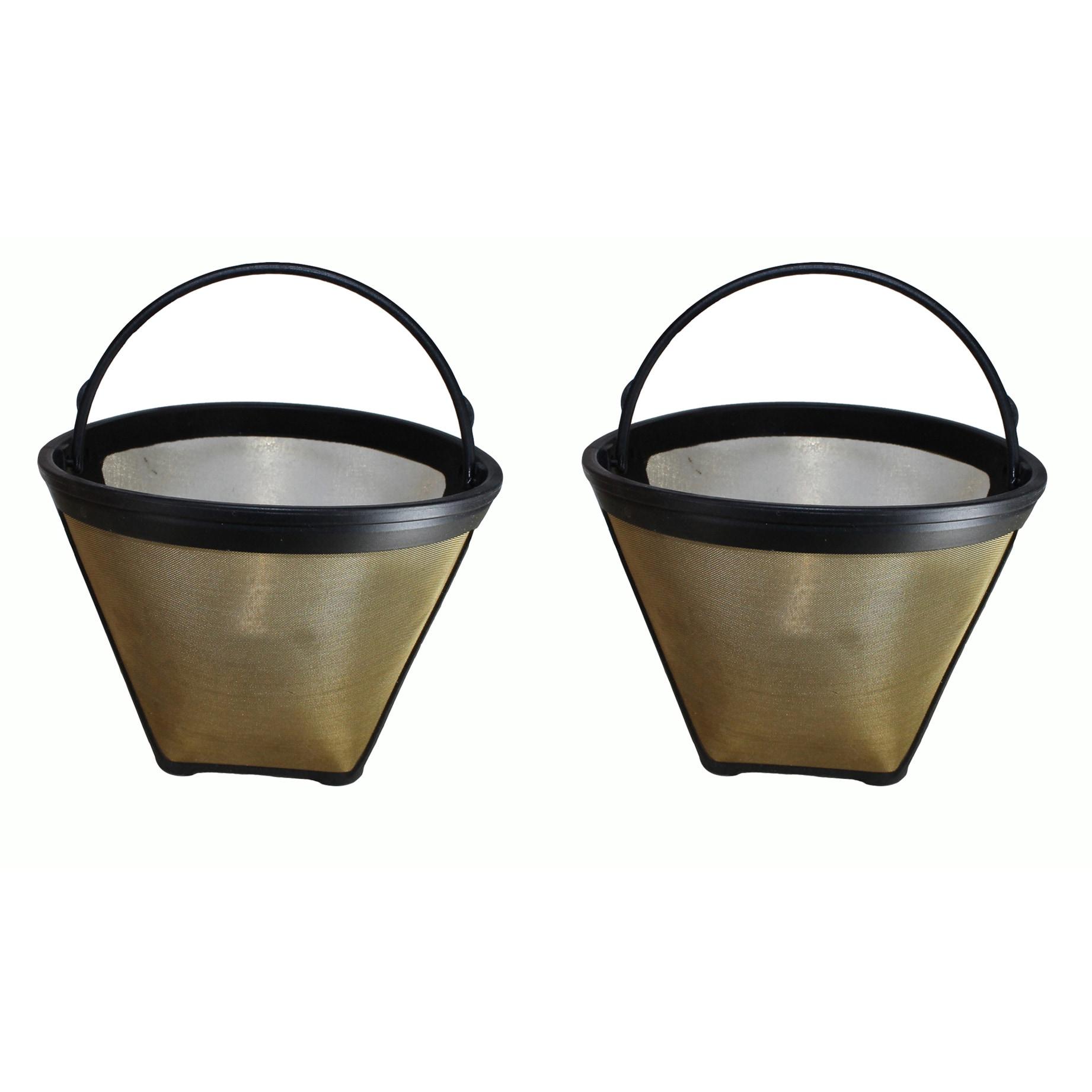 Crucial 2 Cuisinart #4 Cone Gold Tone Washable Coffee Fil...