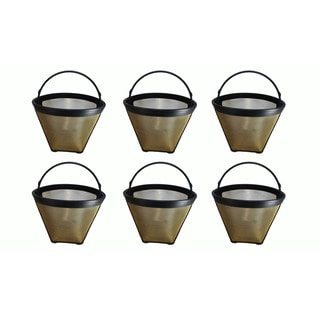 6 Cuisinart 4 Cup Gold Tone Coffee Filter, Part # GTF4