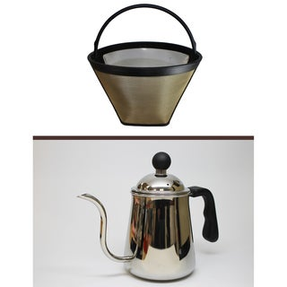 Clever Reusable Cone Coffee Filter and Pour Over Kettle