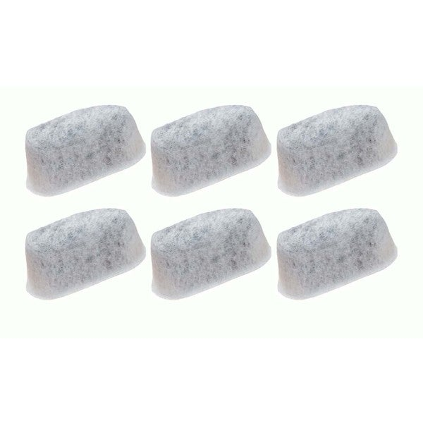 6 Capresso 4640.93 Charcoal Water Filters, Fits Capresso CoffeeTeam