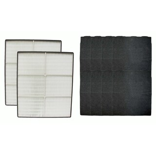2 Crucial Air HEPA Air Purifier Filters and 8 Odor Neutralizing Carbon Pre Filters Fits Whirlpool, Part # 8171434K and 1183054