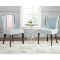 Safavieh En Vogue Dining Lester Sky Blue Polyester Blend Dining Chairs (Set of 2)