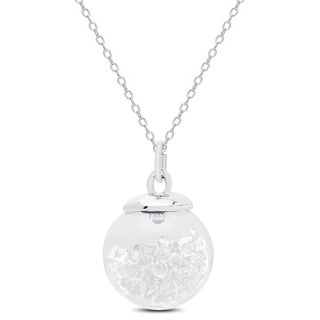 Dolce Giavonna Silvertone Crystal Filled Glass Ball