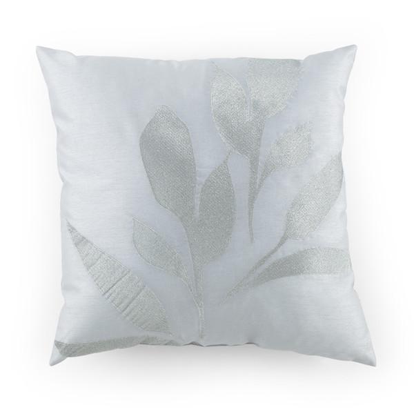 Shop Kathy Davis Reflection Silver Leaf Decorative Pillow