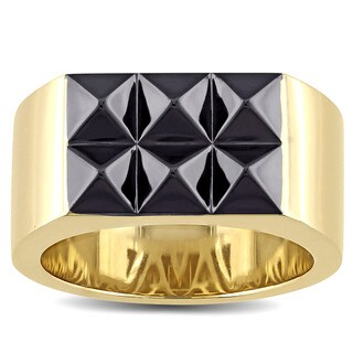 V1969 Italia Men'S Ring In Yellow Gold Plated Sterling Silver