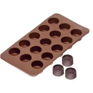 Sorbus Round Silicone Mold for Chocolate Jelly and Candy