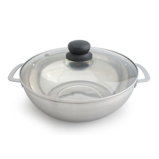 Stainless Steel 3.5-liter Pot with Glass Lid