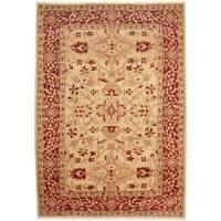 Handmade Herat Oriental Afghan Tribal Oushak Wool Rug (Afghanistan) - 6'3 x 8'9