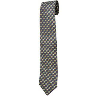 Davidoff 100-percent Twill Silk Grey Neck Tie