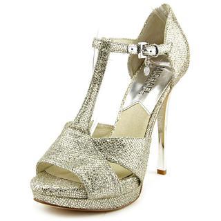 Michael Michael Kors Women's 'Diana T-Strap' Basic Textile Dress Shoes