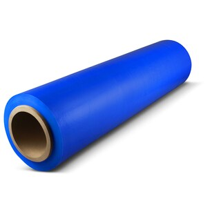 1,500-foot Blue Pallet Hand Wrap Plastic Stretch-wrap 4 Rolls