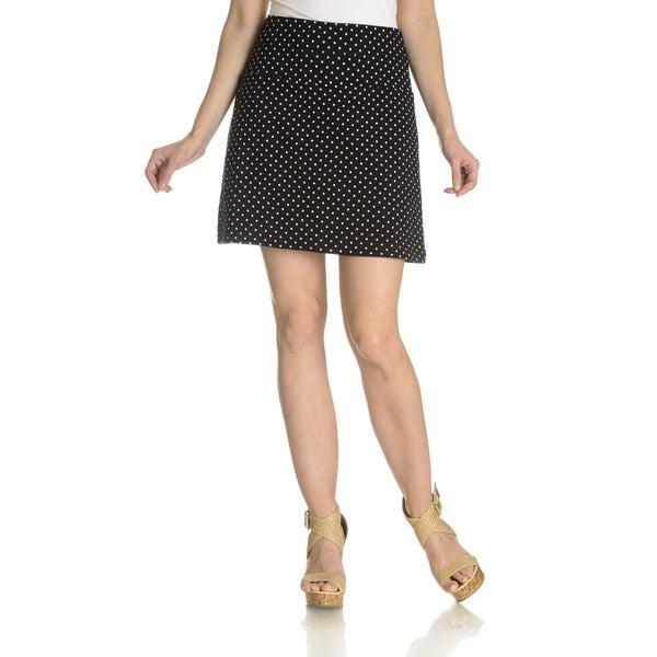 f4eea5253667d Shop Teez Her Women s Polka Dot Tummy Control Low Waist Skort - Free ...