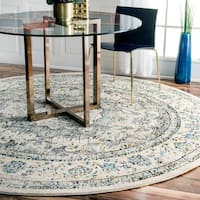 Maison Rouge Radovan Traditional Persian Vintage Grey Rug  - 7'10