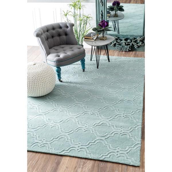 nuLOOM Handmade Modern Trellis Fancy Wool Moss Runner Rug (2'6 x 8')