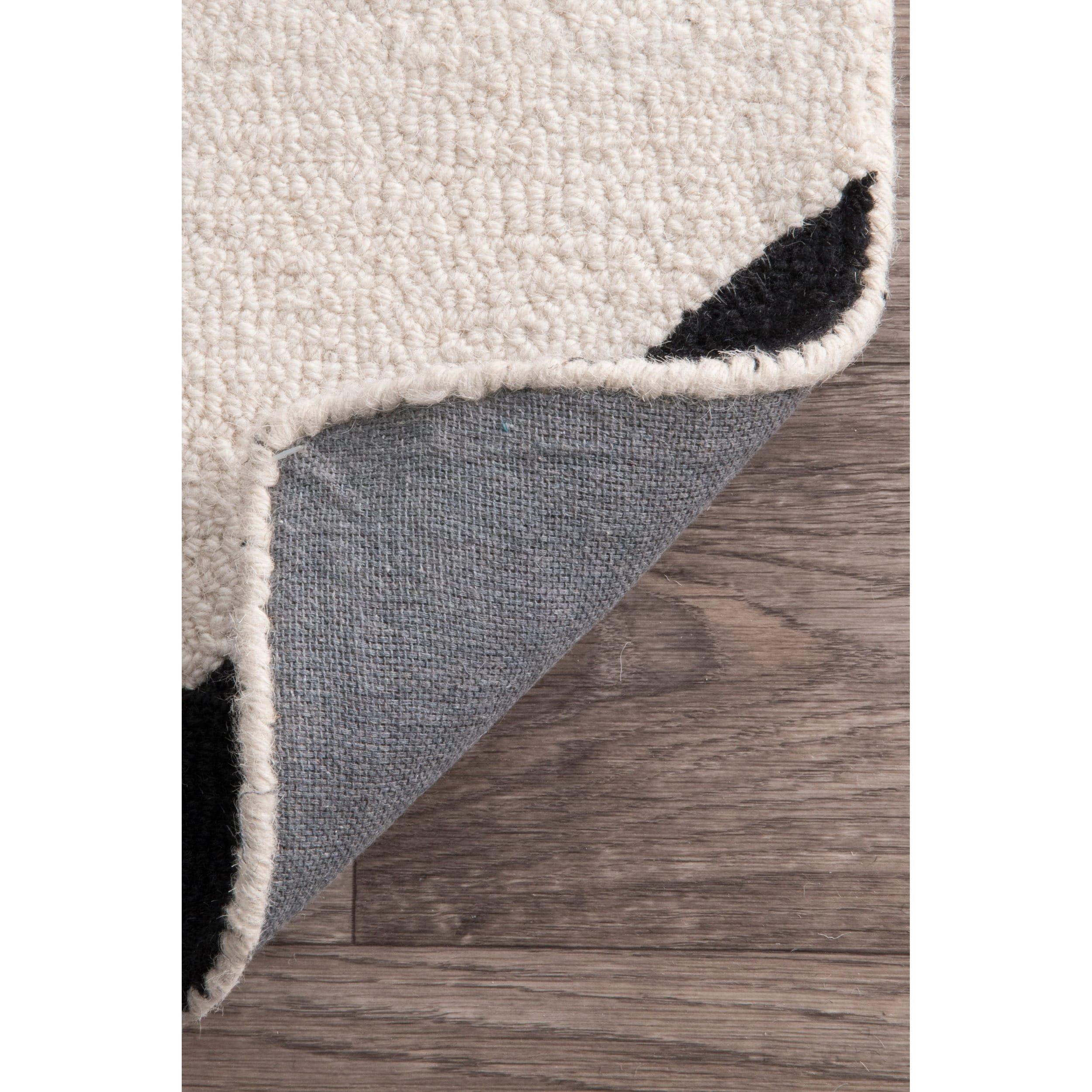 nuLOOM-Black-and-White-Handmade-Mod-Tiles-Wool-Area-Rug thumbnail 10