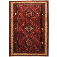 Herat Oriental Afghan Hand-knotted Tribal Balouchi Wool Rug (6'9 x 9'8) - 6'9 x 9'8