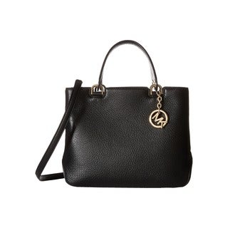Michael Kors Annabelle Black Medium Top Zip Tote Handbag