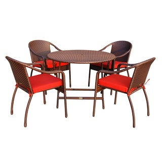 5-piece Cafe Resin Wicker Dining Set