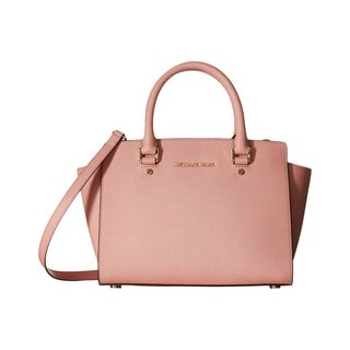Michael Kors Selma Pale Pink Medium Satchel Handbag