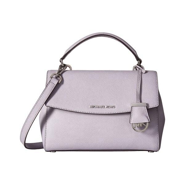 a75b2fb431f0 Shop Michael Kors Ava Lilac Small Top Handle Satchel Handbag - Free ...