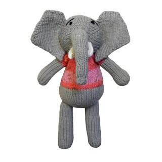 Hand-knitted 10-inch Elephant Toy (Zimbabwe)